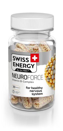 Swiss Energy Neuroforce Capsules with prolonged release of active ingredients