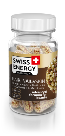 Swiss Energy Hair, Nail & Skin B1 + B6 + Ниацин + Биотин + Zn + L-Цистеин + L-Метионин