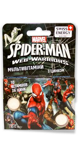 Swiss Energy Multivitamin Spider-Man Жувальні вітаміни для дітей від 3 років