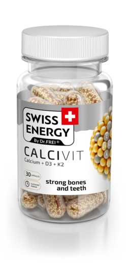 Swiss Energy Calcivit Capsules with prolonged release of active ingredients