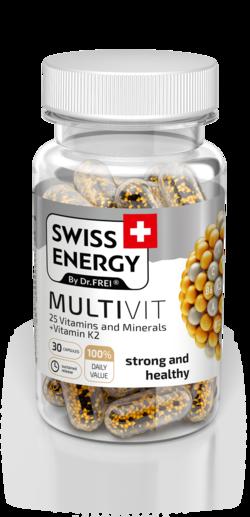 Swiss Energy Multivit 25 Вітамінів и Мінералів + Вітамін K2