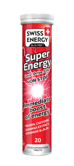 SUPER ENERGY Taurine, Caffeine, Guarana