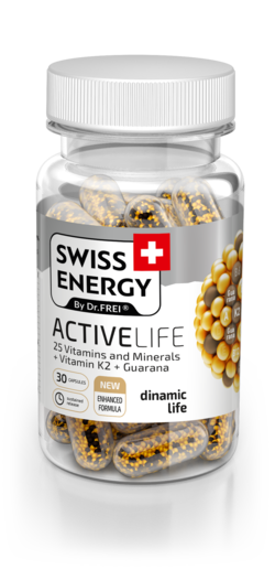 Swiss Energy Activelife 25 Витаминов и Минералов + Витамин K2 + Гуарана