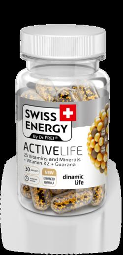 Swiss Energy Activelife 25 Вітамінів і Мінералів + Вітамін K2 + Гуарана